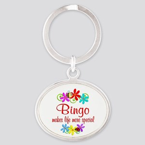 Bingo is Special Oval Keychain