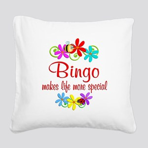 Bingo is Special Square Canvas Pillow