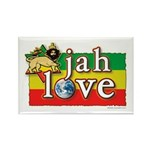 Jah Love Rectangle Magnet (10 pack)