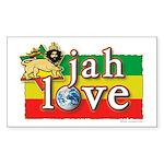 Jah Love Sticker (Rectangle)
