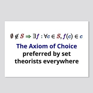 The Axiom of Choice Postcards (Package of 8)