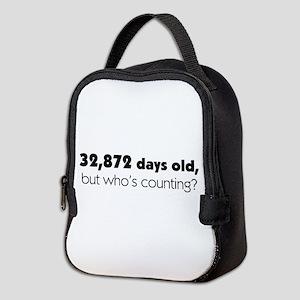 90th Birthday Neoprene Lunch Bag