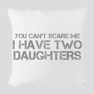 two-daughters-CAP-GRAY Woven Throw Pillow
