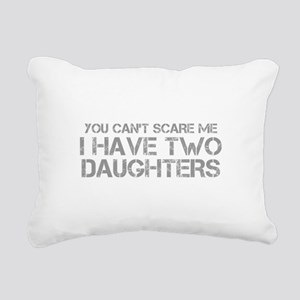 two-daughters-CAP-GRAY Rectangular Canvas Pillow