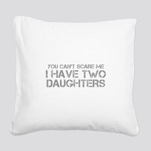 two-daughters-CAP-GRAY Square Canvas Pillow