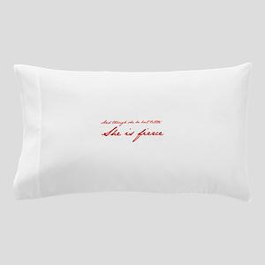 she-is-fierce-JAN-RED Pillow Case