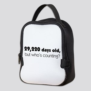 80th Birthday Neoprene Lunch Bag
