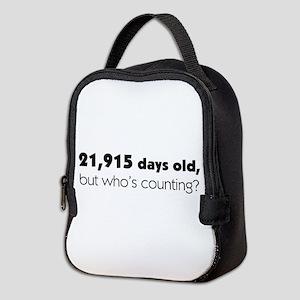 60th Birthday Neoprene Lunch Bag