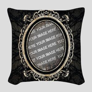 CUSTOM PHOTO Gothic Frame Woven Throw Pillow