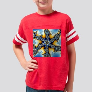 Fractalclock1 Youth Football Shirt