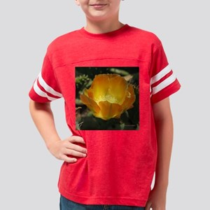 Prickly Pear Blossom-tile Youth Football Shirt