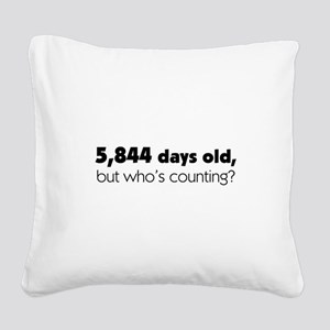16th Birthday Square Canvas Pillow