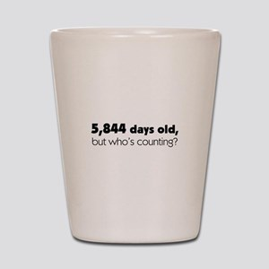 16th Birthday Shot Glass