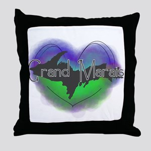 Aurora Grand Marais Throw Pillow
