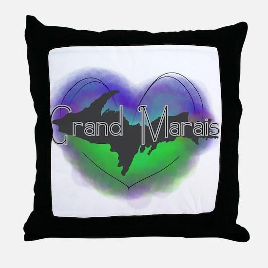 Aurora Grand Marais Throw Pillow