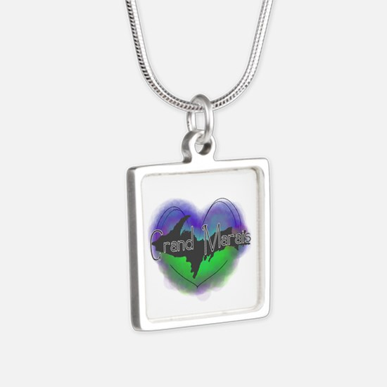 Aurora Grand Marais Silver Square Necklace