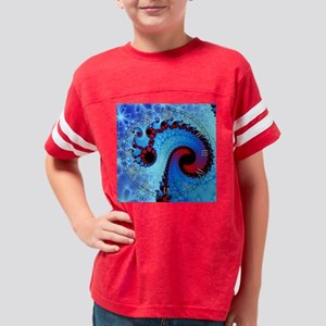Fractalclock10 Youth Football Shirt