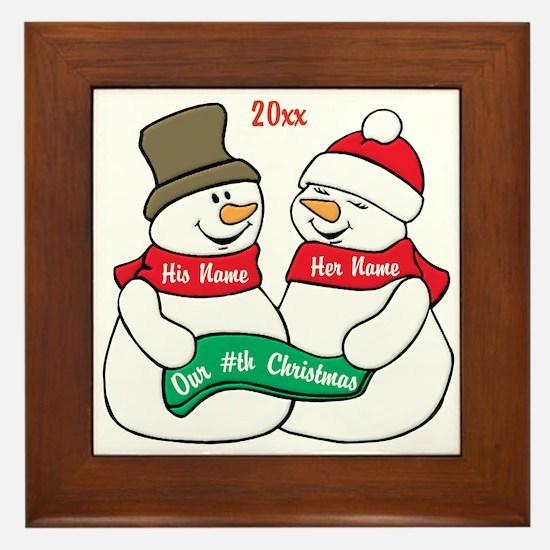 Our Nth Christmas Framed Tile