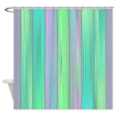 Aqua Pastel Shower Curtain By Coppercreekdesignstudio