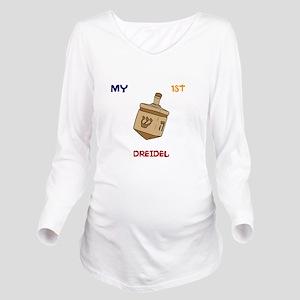 1ST Dreidel Long Sleeve Maternity T-Shirt