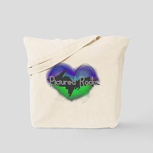 Aurora Pictured Rocks Tote Bag