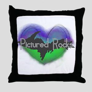Aurora Pictured Rocks Throw Pillow
