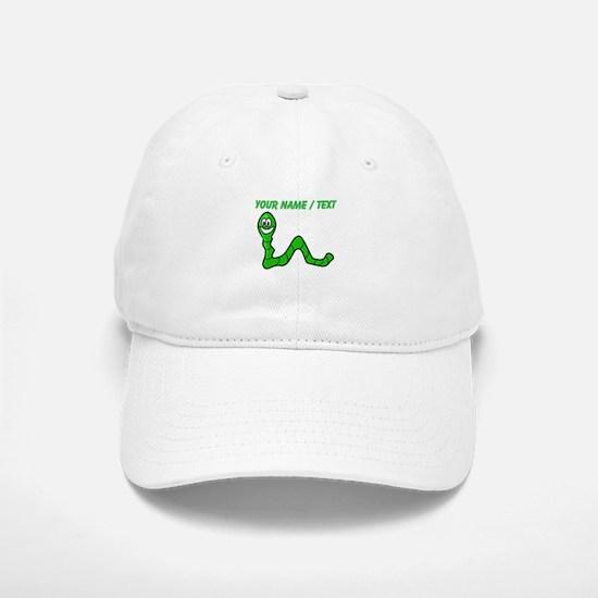 Custom Cartoon Inchworm Baseball Baseball Cap