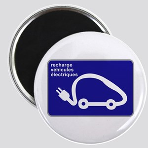 Recharge station for electric cars - France Magnet