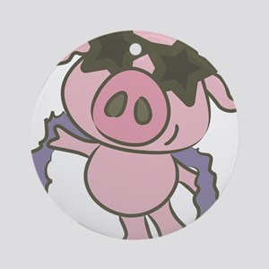Pig Star Ornament (Round)