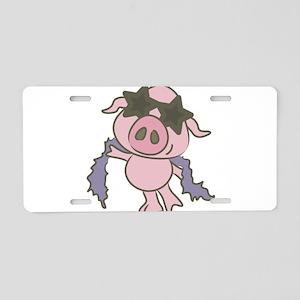 Pig Star Aluminum License Plate