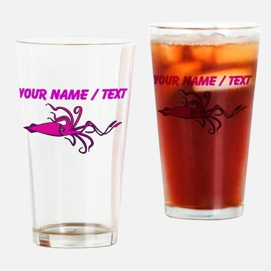 Custom Pink Squid Drinking Glass