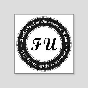 "Foredeck Union Seal Logo Square Sticker 3"" x 3"""