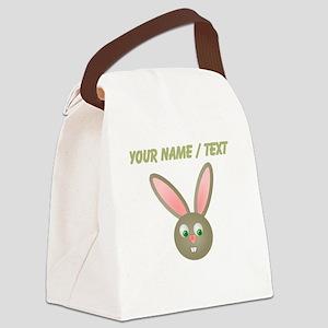 Custom Cartoon Bunny Canvas Lunch Bag