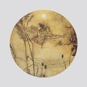 Fairy's Tightrope by Arthur Rackham Ornament (Roun