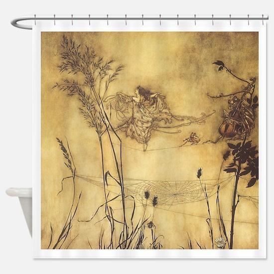 Fairy's Tightrope by Arthur Rackham Shower Curtain