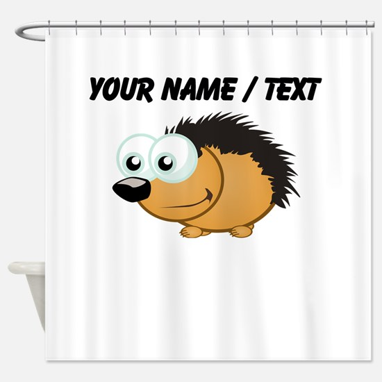 Custom Hedgehog Shower Curtain