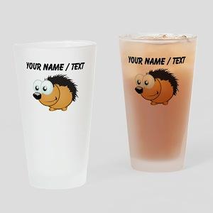 Custom Hedgehog Drinking Glass