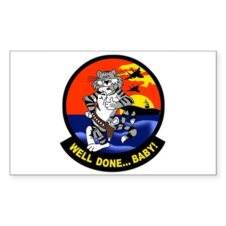 F-14 Tomcat Rectangle Sticker