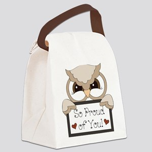 proud of you-owl Canvas Lunch Bag