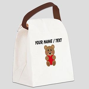 Custom Cute Teddy Bear Canvas Lunch Bag