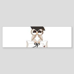 graduation owl Bumper Sticker