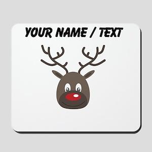 Custom Cute Red Nose Reindeer Mousepad