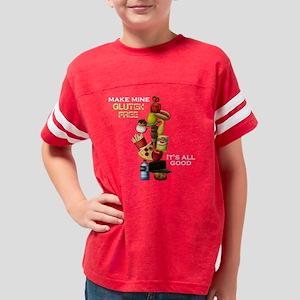 Make Mine Gluten Free - dark Youth Football Shirt