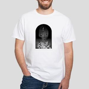 White T-Shirt - Music chess