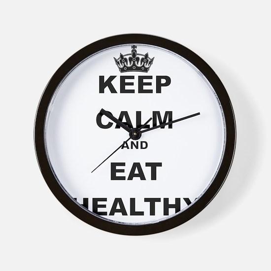 KEEP CALM AND EAT HEALTHY Wall Clock