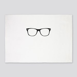 Geek glasses 5'x7'Area Rug