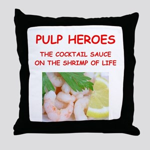 pulp heroes Throw Pillow