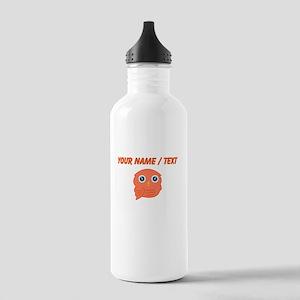Custom Orange Owl Sports Water Bottle