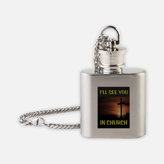 CHURCH CROSS Flask Necklace