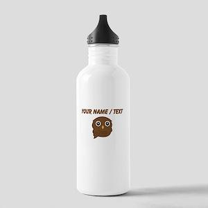 Custom Brown Owl Sports Water Bottle
